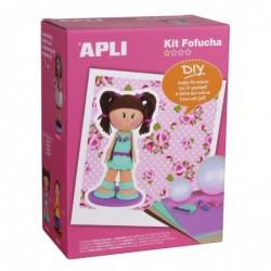 APLI Kit poupée en mousse fille - niveau difficulté 1  17x10x23 cm