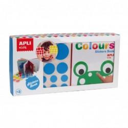 APLI Kit Mon premier livre avec des gommettes pour apprendre les couleurs
