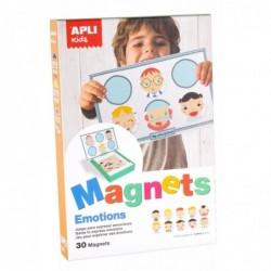 APLI Jeu magnétique Support et 30 Pièces Emotions