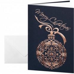 """SIGEL Lot de 10 Cartes + Enveloppes Noel """"Noblesse"""" A6 (A5) 270g Imprimable"""