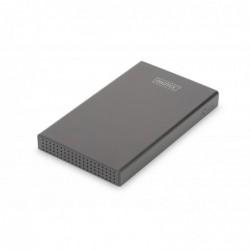 """DIGITUS Boîtier Externe Aluminium USB 3.1 Type C pour SSD/HDD 2.5"""" Noir"""