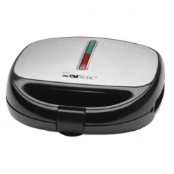 CLATRONIC Grill à contact/Toaster/Gaufrier ST/WA 3670 - Noir/inox