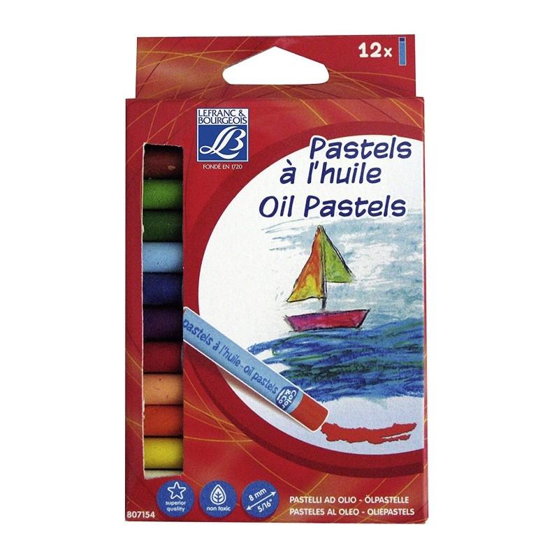 LEFRANC BOURGEOIS Boîte de 12 pastels à l'huile COLOR & CO