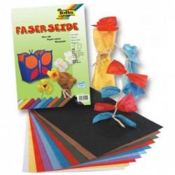 FOLIA Lot de 10 Feuilles Papier Mûrier 230 x 320 mm 25 g/m2 Assorties