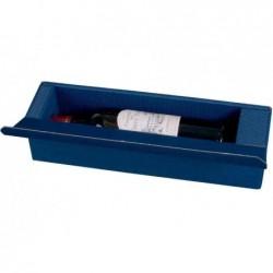 SMARTBOXPRO Coffret cadeau pour 1 bouteille de vin, bleu