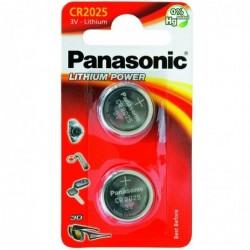 PANASONIC Blister de 2 piles CR 2025 3V au lithium