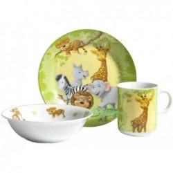 RITZENHOFF & BREKER Set 3 Pièces Porcelaine Mug, Bol Céréales, Assiette Animaux