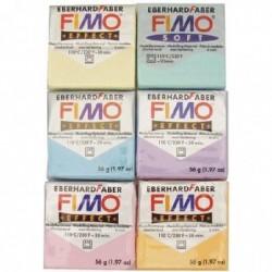 FIMO Sac de 6 blocs de pâte à modeler Fimo Soft 56g Coloris pastels assortis