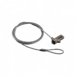MCL SAMAR Câble de sécurité antivol MCL type câble à encoche sytème à code 4 DIGITS - 1,80m