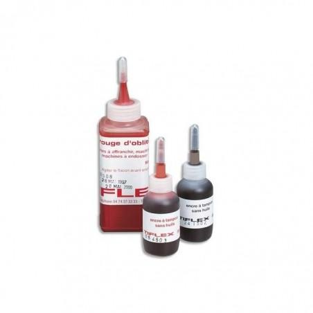 TIFLEX Flacon 30 ml Encre à Tampon Sans Huile pour Timbres caoutchoucs Noir