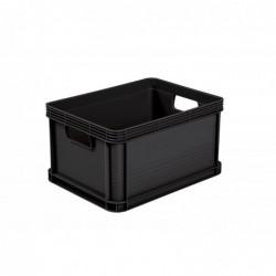 KEEEPER Robusto-Boîte Plastique Graphite 20 L