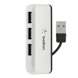BELKIN Concentrateur (hub) Travel 4 x USB 2.0 Noir Blanc