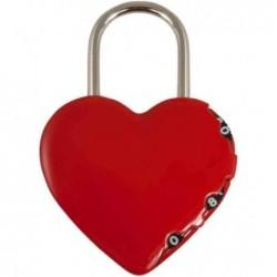 """STANLEY Cadenas à combinaison """"Coeur"""", rouge, à 3 chiffres"""