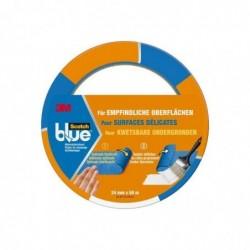 SCOTCH Ruban Masquage pour Surfaces Délicates 24 mm x 50 m Bleu