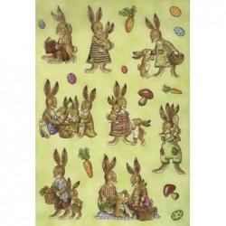 """HERMA Etiquettes de pâques DECOR """"Famille de lapins"""","""