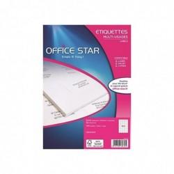OFFICE STAR Boite de 6500 étiquettes multi-usage blanches 38x21,2mm