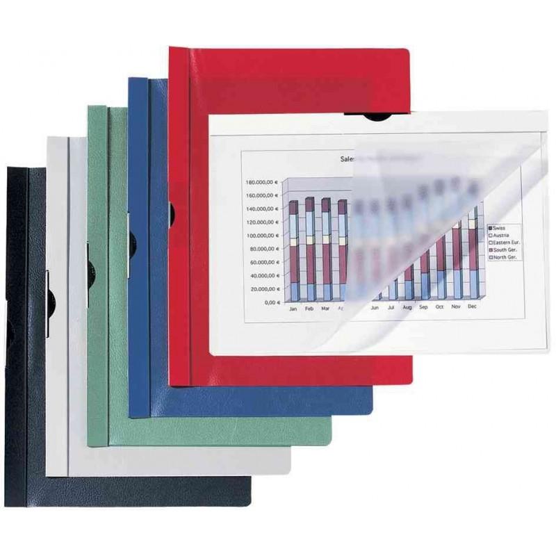 HETZEL Dossier clipsables A4 capacité 30 feuilles rouge