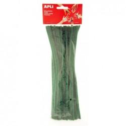 APLI Sachet de 50 chenilles vertes 30 cm