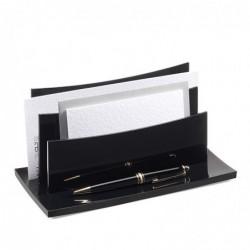 CEP Trieur à enveloppes ACRYLIGHT  L22,5 x H11 x P10,5 cm Noir Glossy