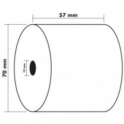 EXACOMPTA Lot de 10 Bobines 2 Plis CB blanc/CF jaune 57 x 70 x 12 mm 25 m