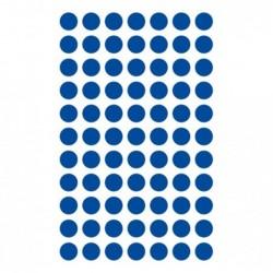 CLAIREFONTAINE Sachet 6 planches gommettes 8mm bleu foncé