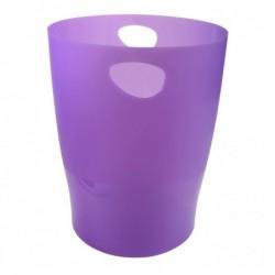 EXACOMPTA Corbeille à papier ECO 15 Lviolet translucide - Diamètre 26 cm, hauteur 33,5 cm