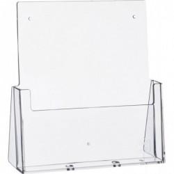 HELIT Porte-brochure de table A4 portrait 1 compartiment Acrylique Transparent