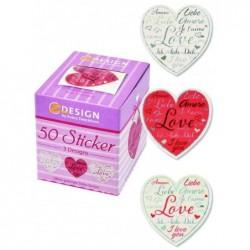 AVERY ZWECKFORM Boite de 50 Stickers ZDesign en Rouleau Cour Love 38 mm