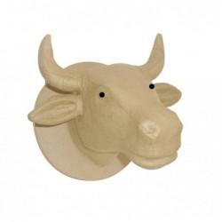 DÉCOPATCH Trophée Tête de Vache, 23 x 21 x 26 cm