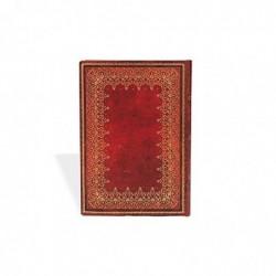 PAPERBLANKS Carnet Reliure Classique à l'Ancienne Feuille d'Or Midi 13x18cm 144 pages lignées