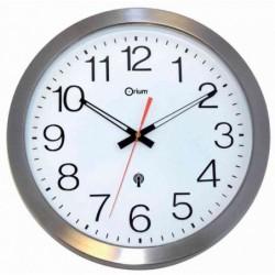 ORIUM Horloge quartz radio commandée 35cm Aluminium étanche