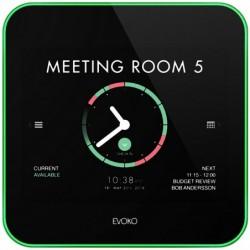 EVOKO Liso Espace Système de Réservation Plaque de porte numérique Blanc