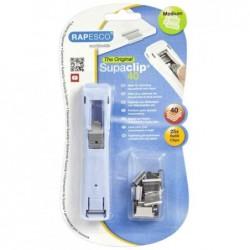 RAPESCO Pince à relier Supaclip® 40 Bleu poudre + 25 clip acier