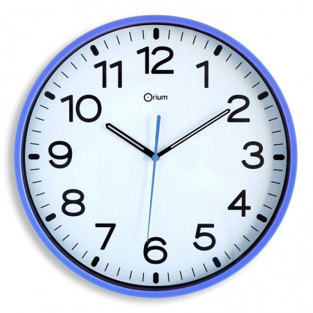 ORIUM Horloge quartz mécanisme silencieux 30cm Bleu Marine