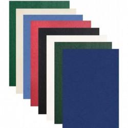 PAVO Pqt de 100 Plats de Couverture Grain Cuir 250g  A4 Bleu foncé