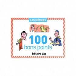 EDITIONS LITO Boîte de 100 bons points thèmes les métiers avec texte pédagogique format 6,2x8,2cm