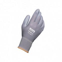 MAPA Lot de 10 paires de Gants Ultrane Industrie Homme Taille 9 L21-27 cm gris