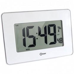ORIUM Horloge digitale radio commandée SENSITIVE 28 x 19,5 cm Blanc Brillant