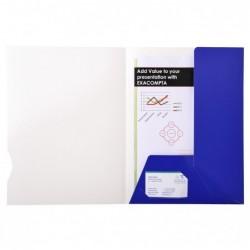 EXACOMPTA Boite 20 chemises 2 rabats carte 250g CHROMOLUX Bleu brillant
