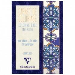 CLAIREFONTAINE Coloriage Carnet de 36 pages 120g format 14,8x21cm - Méditerranée