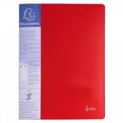 EXACOMPTA Protège-documents UPLINE PP opaque. 40 vues, 20 pochettes Rouge