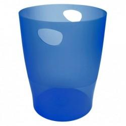 EXACOMPTA ECOBIN Corbeille à papier Iderama Tr bleu royal translucide