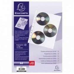 EXACOMPTA SACHET DE 10 POCH.PERFO 3 CD