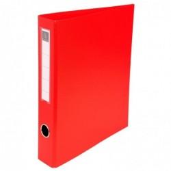 EXACOMPTA Classeur rembordé PVC 4 anneaux en D de 40mm A4 maxi Rouge