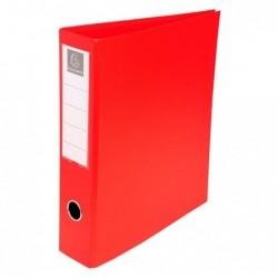 EXACOMPTA Classeur Eco-Carto, A4, 4 anneaux en D, rouge