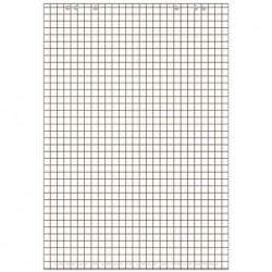 LANDRÉ bloc paperboard, 20 feuilles, à carreaux / en blanc