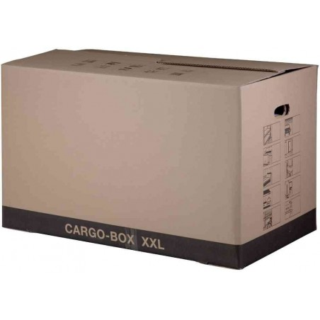 SMARTBOXPRO Carton déménagement Cargo Box XXL dim intérieure 75x42x44 cm Brun