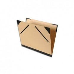 EXACOMPTA Carton à dessin en kraft dos et coin toilé format 52 X 72 cm