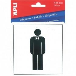 APLI Pictogramme toilette hommes  114 x 114 mm