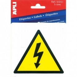 APLI Pictogramme risque électrique 114 x 114 mm